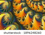 Fractal Pattern In Gold And...