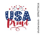 usa proud   united states of... | Shutterstock .eps vector #1896273616