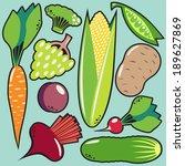 illustration of fruit and...   Shutterstock .eps vector #189627869