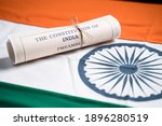 Selective Focus On Flag  Indian ...