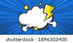 empty pop art comic background... | Shutterstock .eps vector #1896303400