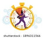 time management concept ...   Shutterstock .eps vector #1896311566