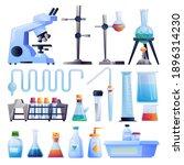 scientific research equipment... | Shutterstock .eps vector #1896314230