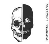 a skull. skull tattoo. can be... | Shutterstock .eps vector #1896315709
