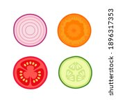 collection of different fresh... | Shutterstock .eps vector #1896317353