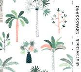 palm plantation illustration... | Shutterstock .eps vector #1896333940
