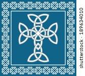 celtic cross symbolizes... | Shutterstock .eps vector #189634010