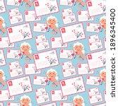 valentine cupid love angel... | Shutterstock .eps vector #1896345400
