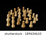 globe and white chess on a... | Shutterstock . vector #189634610