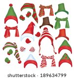 Vector Set Of Hats  Scarfs And...