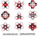 black and red symbols on the... | Shutterstock .eps vector #1896349540