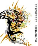 tribal eagle symbol with... | Shutterstock .eps vector #1896353683