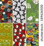 set of vertical cards. vector... | Shutterstock .eps vector #189636500