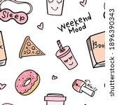 weekend mood concept seamless...   Shutterstock .eps vector #1896390343