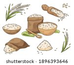 rice crop and food made from it....   Shutterstock .eps vector #1896393646