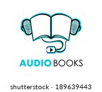 hand drawn audio books symbol... | Shutterstock .eps vector #189639443