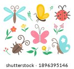 Vector Flat Insect And First...