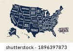 united states map. vintage usa... | Shutterstock .eps vector #1896397873