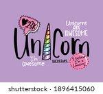 unicorn slogan text design for... | Shutterstock .eps vector #1896415060