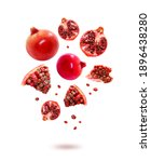 photo of red pomegranate fruits ... | Shutterstock . vector #1896438280