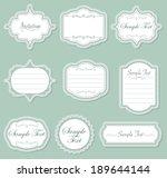 vector vintage frame set | Shutterstock .eps vector #189644144