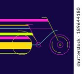 Illustration Of Bicycle Moving...