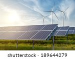solar panels and wind... | Shutterstock . vector #189644279
