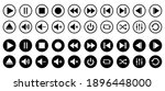 media player control icon set ... | Shutterstock .eps vector #1896448000