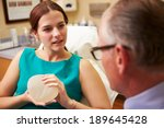 woman discussing breast... | Shutterstock . vector #189645428