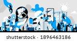 symbols for construction ... | Shutterstock .eps vector #1896463186