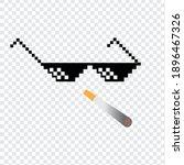 boss or gangster pixelated... | Shutterstock .eps vector #1896467326