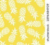 pineapple seamless vector... | Shutterstock .eps vector #1896484939