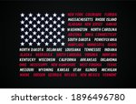 poster flag of united states of ... | Shutterstock .eps vector #1896496780