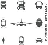 set of transport icons in front ... | Shutterstock .eps vector #1896512350