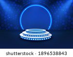 stage podium with lighting ...   Shutterstock .eps vector #1896538843