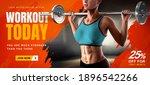 energetic fitness training... | Shutterstock . vector #1896542266