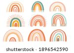 boho rainbows in retro colors  | Shutterstock .eps vector #1896542590