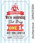 circus birthday | Shutterstock .eps vector #189655304