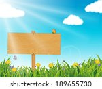 spring   summer scene  with... | Shutterstock .eps vector #189655730