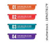 color labels infographic... | Shutterstock .eps vector #1896578179
