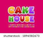 vector bright logo cake house.... | Shutterstock .eps vector #1896582673