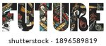 future slogan. post apocalypse...   Shutterstock .eps vector #1896589819