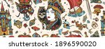 fairy tales seamless pattern....   Shutterstock .eps vector #1896590020