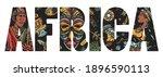 africa slogan. tradition ... | Shutterstock .eps vector #1896590113
