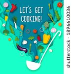 paper cut craft style soup... | Shutterstock .eps vector #1896610036