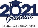 blue class of 2021 graduate...   Shutterstock .eps vector #1896613033