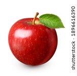 red apple fruit isolated on... | Shutterstock . vector #1896616390