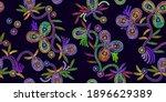sequins. fashion horizontal... | Shutterstock .eps vector #1896629389