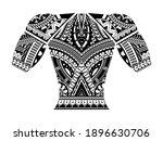 polynesian tattoo wrist sleeve... | Shutterstock .eps vector #1896630706