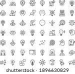 thin outline vector icon set...   Shutterstock .eps vector #1896630829